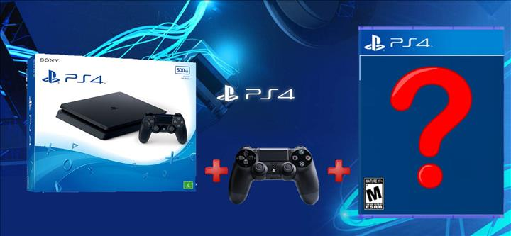 Sony Playstation 4 500GB Slim + 2 Controllers + משחק לבחירה