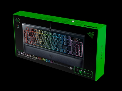 מקלדת גיימינג RAZER Blackwidow Tournament Ed. Chroma V2-Green Switch