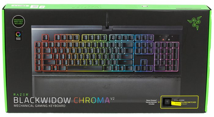 (Razer - BlackWidow Chroma V2 (Yellow Switch מקלדת גיימינג