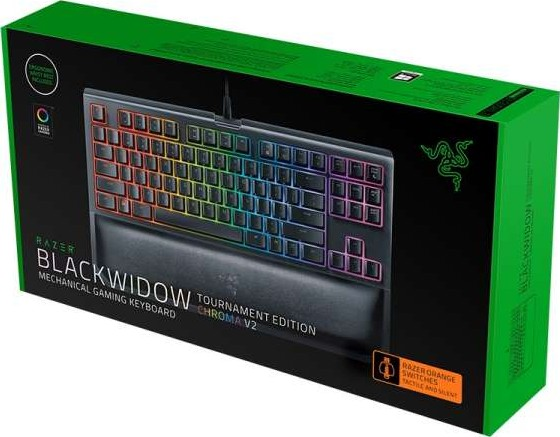 מקלדת גיימינג RAZER Blackwidow Tournament Ed. Chroma V2-Orange Switch