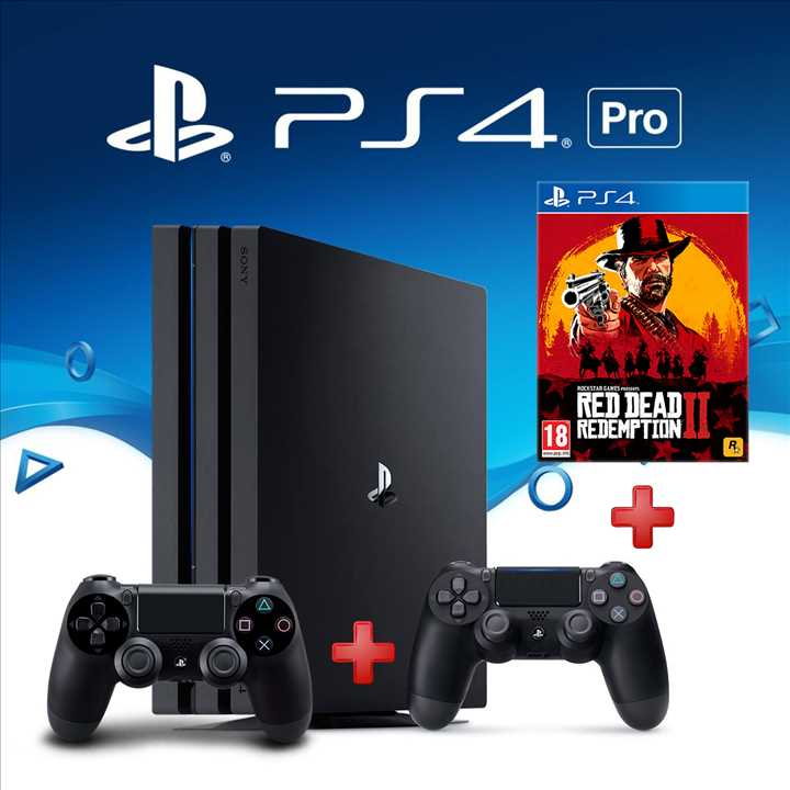 Playstation 4 Pro 1TB + שלט נוסף + משחק Red Dead Redemption 2