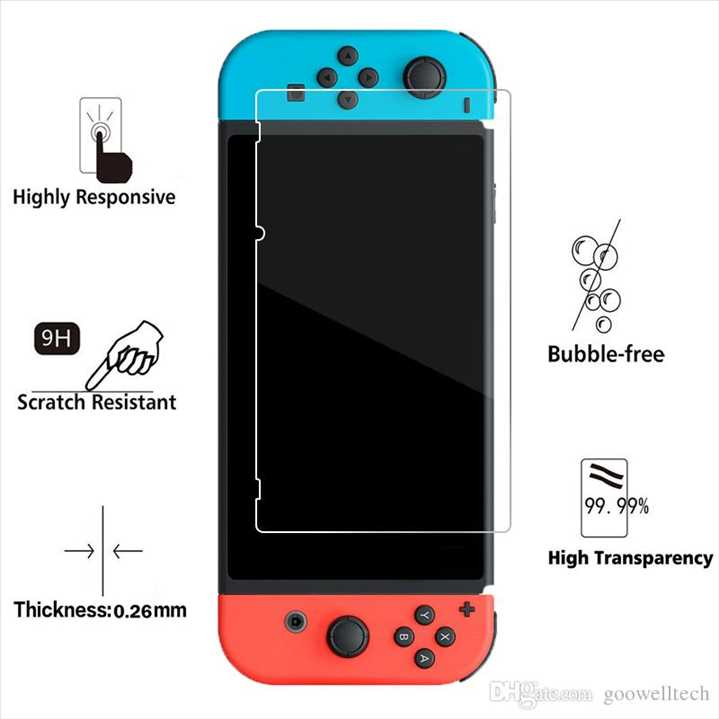 Switch - Tempered Glass Screen Protector מגן מסך זכוכית לסוויץ'