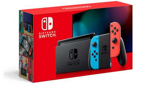 NINTENDO SWITCH CONSOLE V2 - NEON RED