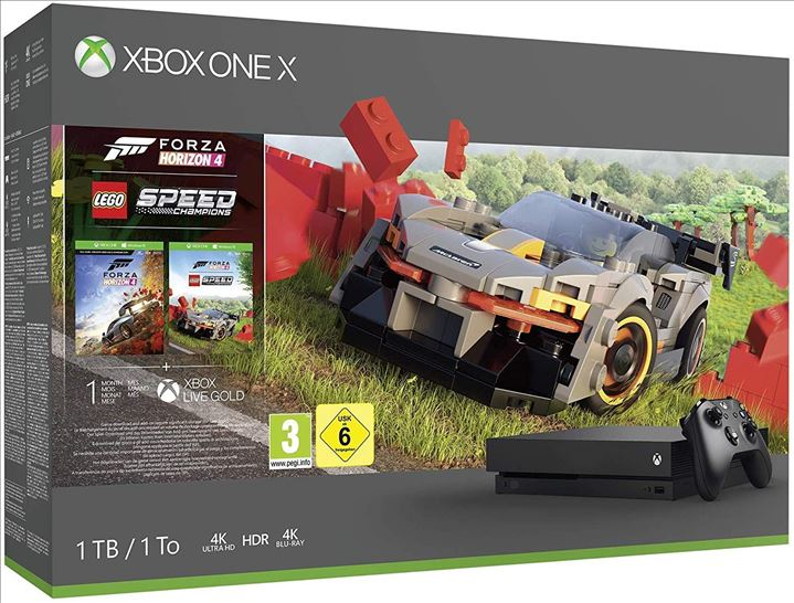 XBOX ONE X + FORZA HORIZON 4 + LEGO SPEED CHAMPIONS