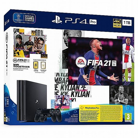 Playstation 4 PRO 1TB + DUALSHOCK 4 + FIFA 21 BUNDLE