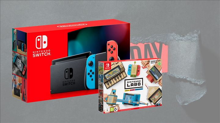 Nintendo Switch V 1.1 אדום כחול + LABO !!מבצע BLACK FRIDAY!!